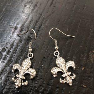 fleur-de-lis earrings